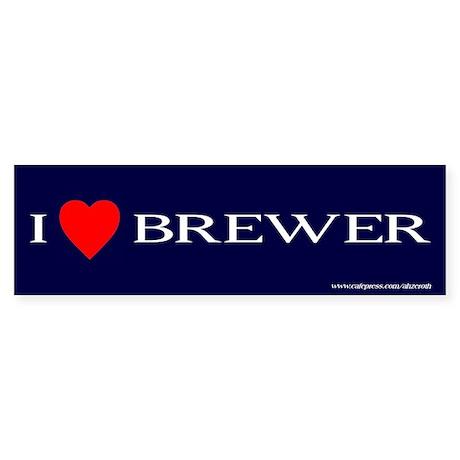 I Heart Brewer, Sticker (Bumper)