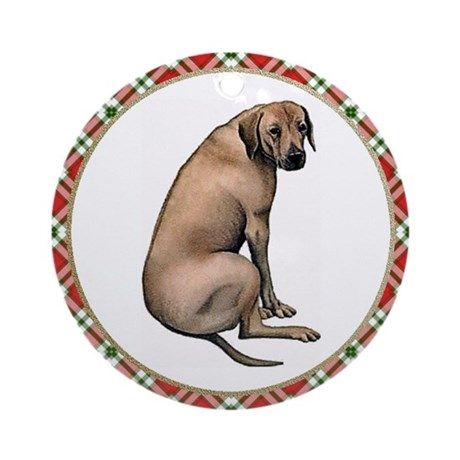 Rhodesian Ridgeback Christmas Ornament (Round)