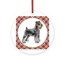 Schnauzer Christmas Ornament (Round)