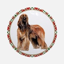 Afghan Hound Christmas Ornament (Round)