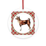 Basenji Christmas Ornament (Round)