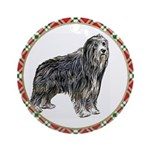 Bearded Collie Christmas Ornament (Round)