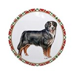 Bernese Mountain Dog Christmas Ornament (Round)
