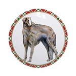 Borzoi Christmas Ornament (Round)