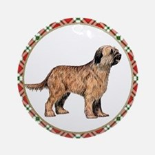 Briard Christmas Ornament (Round)