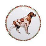 Brittany Spaniel Christmas Ornament (Round)