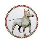 Bull Terrier Christmas Ornament (Round)
