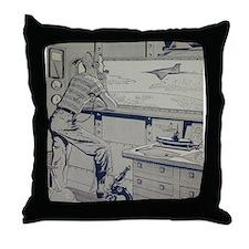 Tom Swift, Jr. Throw Pillow