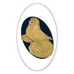 Yellow Trumpeter Sticker (Oval 50 pk)