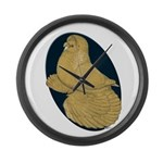 Yellow Trumpeter Large Wall Clock