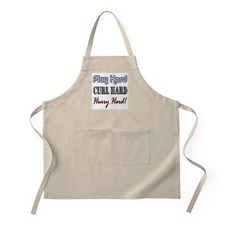 Play Hard, Curl Hard, Hurry H BBQ Apron