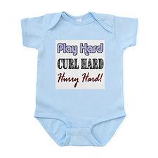 Play Hard, Curl Hard, Hurry H Infant Creeper