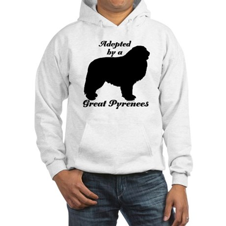 ADOPTED by Great Pyrenees Hooded Sweatshirt