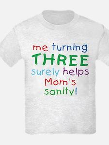 Turning Three. 3rd Birthday Kids T-Shirt