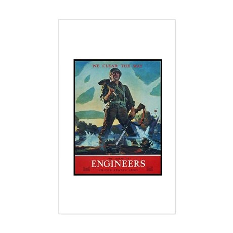 Army Corps of Engineers Rectangle Sticker