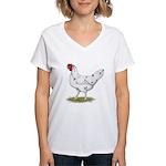 California White Hen Women's V-Neck T-Shirt
