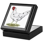 California White Hen Keepsake Box