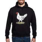 California White Hen Hoodie (dark)