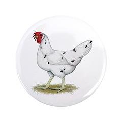 "California White Hen 3.5"" Button (100 pack)"