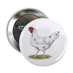 "California White Hen 2.25"" Button (100 pack)"