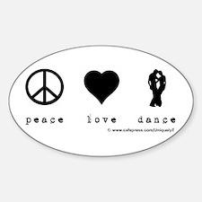 LEADS FOLLOWS DJS Sticker (Oval)