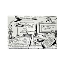 Tom Swift Jr Drawing Board Rectangle Magnet