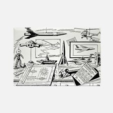 Tom Swift Jr Drawing Board Rectangle Magnet