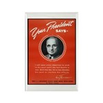 Vintage President Harry Truman Rectangle Magnet