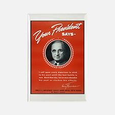 Vintage President Harry Truman Rectangle Magnet
