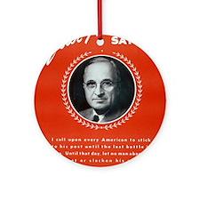 Vintage President Harry Truman Ornament (Round)