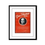 Vintage President Harry Truman Framed Panel Print