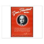 Vintage President Harry Truman Small Poster