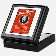 Vintage President Harry Truman Keepsake Box