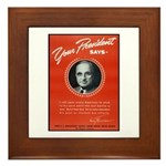 Vintage President Harry Truman Framed Tile