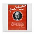 Vintage President Harry Truman Tile Coaster