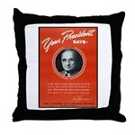 Vintage President Harry Truman Throw Pillow