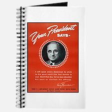 Vintage President Harry Truman Journal