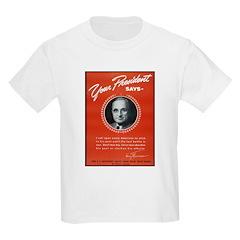 Vintage President Harry Truman (Front) Kids T-Shir