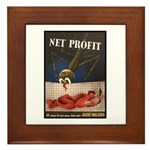 WWII Malaria Propaganda Poster Art Framed Tile