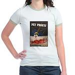 WWII Malaria Propaganda (Front) Jr. Ringer T-Shirt