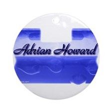 Adrian Howard (blue) Ornament (Round)