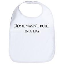 Rome wasn't built Bib