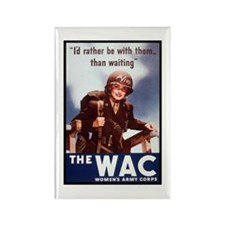 WAC Women's Army Corps Rectangle Magnet