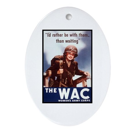 WAC Women's Army Corps Oval Ornament