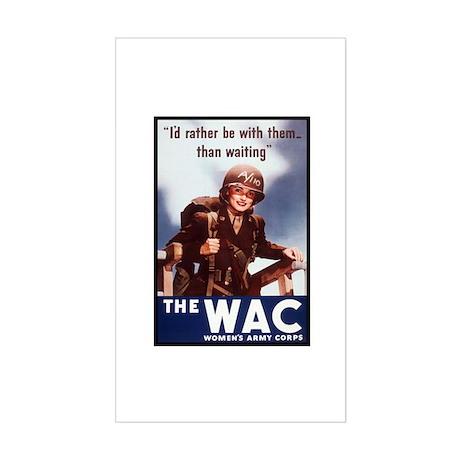 WAC Women's Army Corps Rectangle Sticker