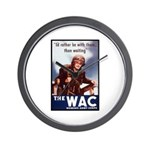 WAC Women's Army Corps Wall Clock