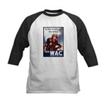 WAC Women's Army Corps Kids Baseball Jersey