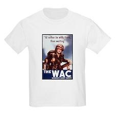 WAC Women's Army Corps (Front) Kids T-Shirt