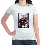 WAC Women's Army Corps (Front) Jr. Ringer T-Shirt
