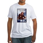 WAC Women's Army Corps (Front) Fitted T-Shirt